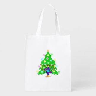 Chanukkah and Christmas Grocery Bag