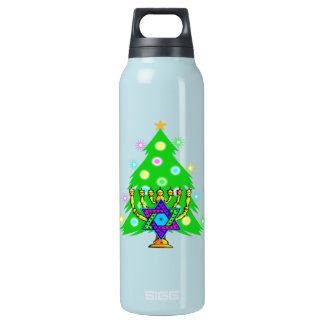 Chanukkah and Christmas Insulated Water Bottle