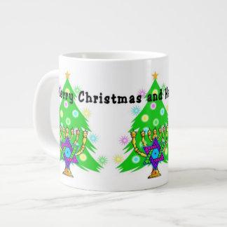 Chanukkah and Christmas Large Coffee Mug