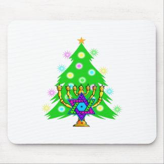 Chanukkah and Christmas Mousepads
