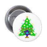 Chanukkah and Christmas Pinback Button