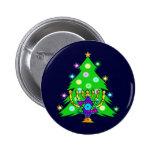 Chanukkah and Christmas Pinback Button