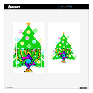 Chanukkah and Christmas Skin For Kindle Fire