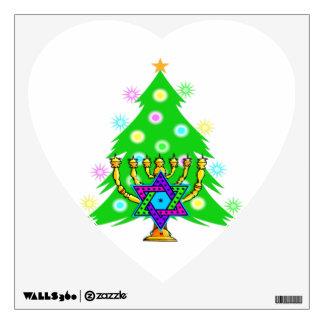Chanukkah and Christmas Wall Sticker