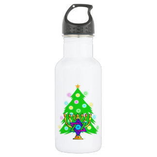 Chanukkah and Christmas Water Bottle