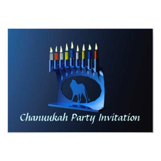 Chanukkah azul brillante Menorah Comunicado Personal