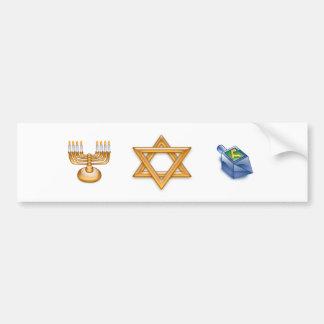 Chanukkah feliz pegatina para auto