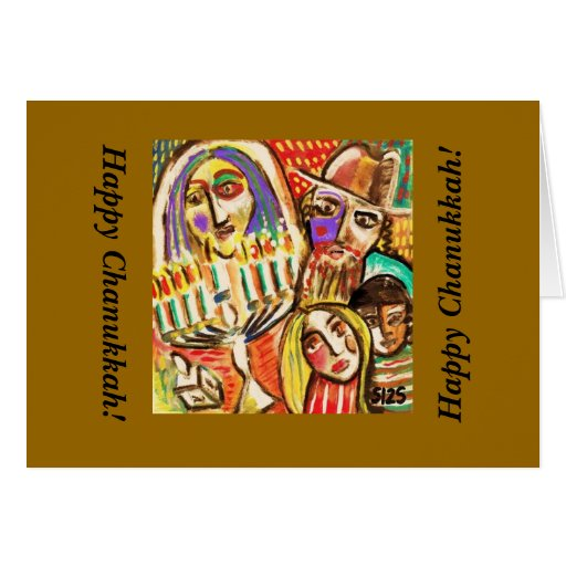 Chanukkah feliz: Festival de luces judío Tarjeton
