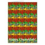 Chanukkah feliz - los corazones crecen en mariposa felicitación