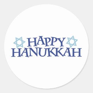 Chanukkah feliz pegatina redonda