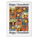 Chanukkah feliz - tarjeta de la marfil de Israel d