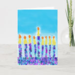 "Chanukkah Greetings Holiday Card<br><div class=""desc"">A festive and warm chanukkah card suitable for anybody.</div>"