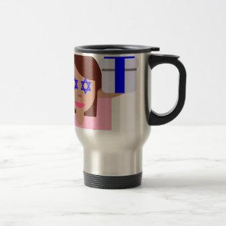 chanukkah hair flip emoji 15 oz stainless steel travel mug