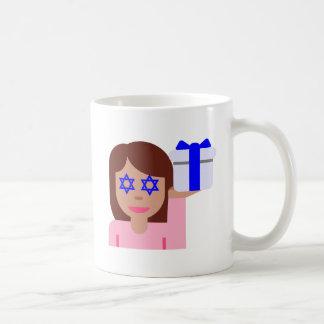 chanukkah hair flip emoji classic white coffee mug