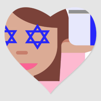 chanukkah hair flip emoji heart sticker