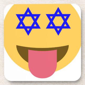 chanukkah hanukkah emoji beverage coaster