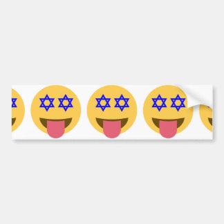 chanukkah hanukkah emoji bumper sticker