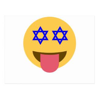 chanukkah hanukkah emoji postcard