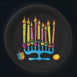 "Chanukkah, Hanukkah Menorah Paper Plate<br><div class=""desc"">I"
