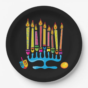 Chanukkah Hanukkah Menorah Paper Plate  sc 1 st  Zazzle & Hanukkah Plates | Zazzle