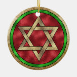 Chanukkah Star of David Ceramic Ornament