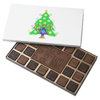 Chanukkah y navidad caja de bombones variados con 45 piezas