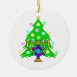 Chanukkah y navidad ornamento de reyes magos