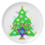 Chanukkah y navidad platos