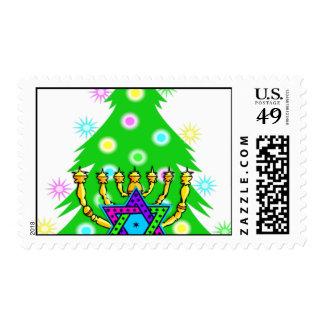 Chanukkah y navidad sellos