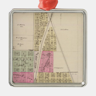 Chanute, Shaw, and Morehead, Kansas Metal Ornament