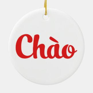 Chào / Hello ~ Vietnam / Vietnamese / Tiếng Việt Ceramic Ornament