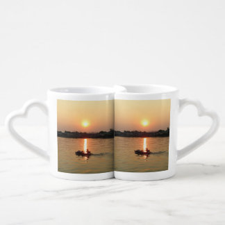 Chao Phraya River Sunset ... Ayutthaya, Thailand Couples Coffee Mug