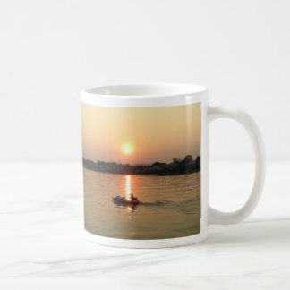 Chao Phraya River Sunset ... Ayutthaya, Thailand Coffee Mugs