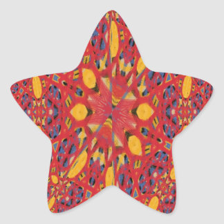 Chaos abstract cool pattern star sticker