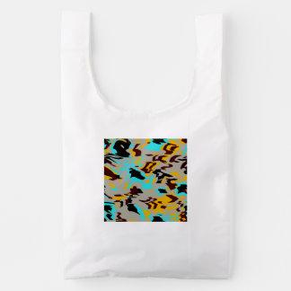 Chaos abstract design reusable bag