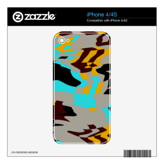 Chaos abstract design skin for the iPhone 4