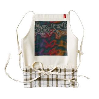 Chaos abstract design zazzle HEART apron