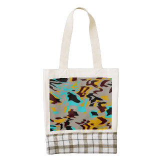 Chaos abstract design zazzle HEART tote bag