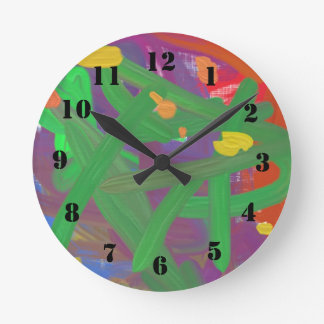 Chaos abstract pattern round clock