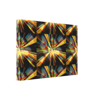 Chaos Abstraction Canvas Print