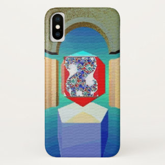 CHAOS AND ORDER TEMPLE Surreal Fractal Art iPhone X Case