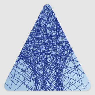chaos blue abstract art triangle sticker