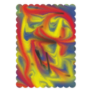 Chaos colorful pattern custom invitation