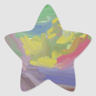 Chaos colorful pattern star sticker