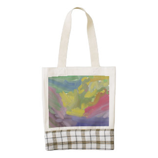 Chaos colorful pattern zazzle HEART tote bag