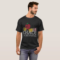 Chaos Coordinator Funny Back To School Distressed T-Shirt