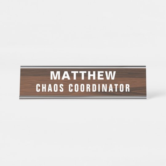 Furniture Personalized Desk Name Plate Home Office Furniture makes a great Co-Worker Gift