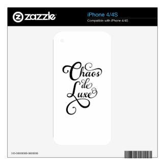 Chaos de luxe, word art, text design iPhone 4 decal