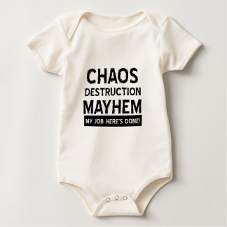 Chaos destruction mayhem baby bodysuit