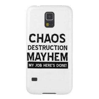 Chaos destruction mayhem case for galaxy s5
